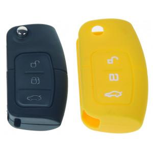 Silikonový obal pro klíč Ford 3-tlačítkový, žlutý