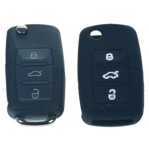Silikonový obal pro klíč Škoda, VW, Seat 3-tlačítkový, černý