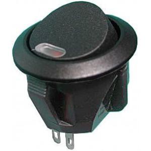 Vypínač kolébkový OFF-ON 1pol.250V/1A s červenou LED