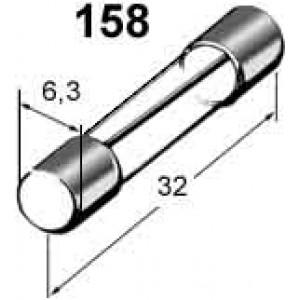 pojistka skleněná 25A 6,3x32