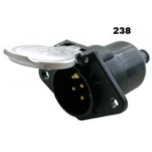 zásuvka 24V 7P hliník JAEGER+těsnění (černá)
