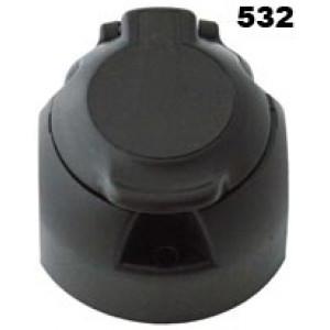 zásuvka 12V 13P plast JAEGER s vypínáním mlhového světla + těsnění PROFI