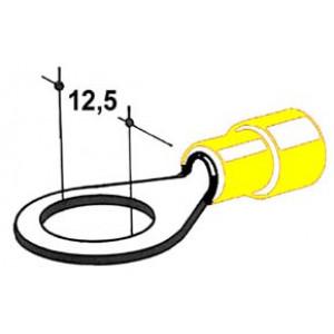 kabelové oko 12,5mm drát 4-6mm izolované žluté