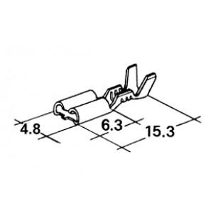 konektor 4,8mm 0,5-1mm dutinka