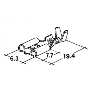 konektor 6,3mm 0,5-1,5mm dutinka