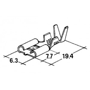 konektor 6,3mm 1-2,5mm dutinka /tvrdší/