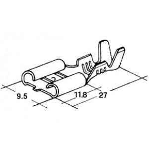 konektor 9,5mm 2-4mm dutinka