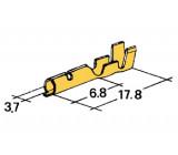 konektor 4mm kulatý 1-2,5mm dutinka