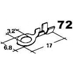 kabelové oko 3,2mm drát 0,5-2mm
