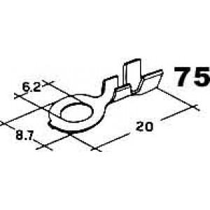 kabelové oko 6,2mm drát 0,8-4mm