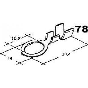 kabelové oko 10,2mm drát 4-6mm