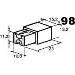 izolační kryt konektorů pro 2ks dutinek 6,3mm