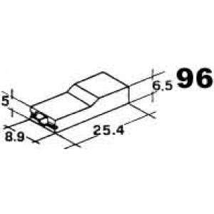 izolační kryt dutinky 6,3mm pro nasunutí zepředu