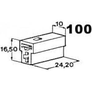 izolační kryt konektorů T pro 2ks dutinek 6,3mm