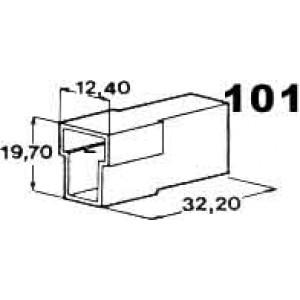 izolační kryt konektorů T pro 2ks kolíků 6,3mm