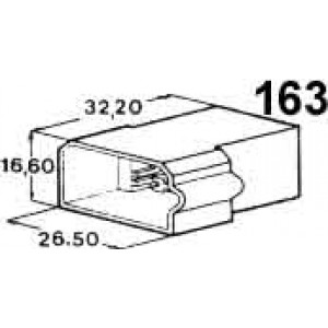 izolační kryt konektorů pro 4ks kolíků 6,3mm