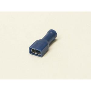 konektor 6,3mm 1-2,5mm dutinka celá izolovaná modrá