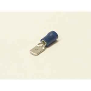 konektor 6,3mm 1-2,5mm kolík izolovaný modrý