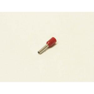 dutinka lisovací s izolací červená kulatá