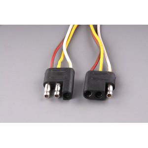 konektor plochý třípólový (kus+protikus)