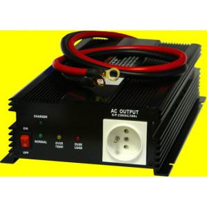repasovaný měnič+dobíječka 12V DC na 230V AC 1200W