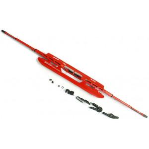 stěrač ocelový červený 660mm