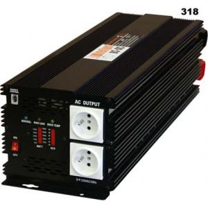 měnič napětí z 12V DC na 230V AC 5000W trvale