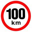 samolepka rychlosti 100 km průměr 19 cm