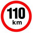 samolepka rychlosti 110 km průměr 19 cm