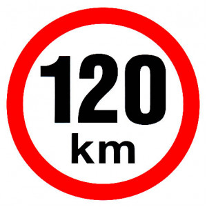 samolepka rychlosti 120 km