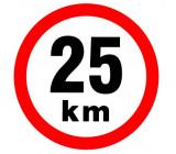 samolepka rychlosti 25 km průměr 19 cm