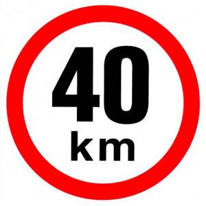 samolepka rychlosti 40 km průměr 19 cm