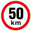 samolepka rychlosti 50 km průměr 19 cm