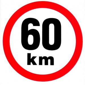 samolepka rychlosti 60 km průměr 19 cm