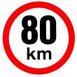 samolepka rychlosti 80 km