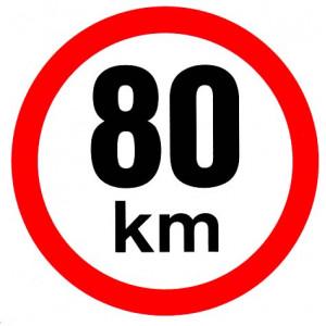 samolepka rychlosti 80 km průměr 19 cm