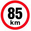 samolepka rychlosti 85 km průměr 19 cm