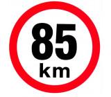 samolepka rychlosti 85 km