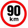samolepka rychlosti 90 km průměr 19 cm