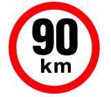 samolepka rychlosti 90 km