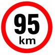 samolepka rychlosti 95 km průměr 19 cm