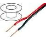 Dvojlinka Kabel pro reproduktory, červeno-černý 2x1,00mm2
