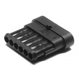 zástrčka vodotěsná 1,5 se zámkem 6 pinů