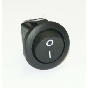 vypínač kulatý černý 21 mm černý