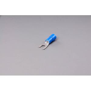 konektor vidlice izolovaná modrá 4,3mm