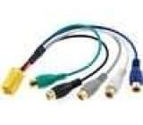 Redukce ISO mini vidlice 6 PIN  - 5x RCA zásuvka CINCH