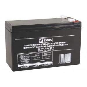 12V baterie (akumulátor) SLA 12V/7,2Ah Fa 6,3