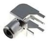 Zásuvka RCA zásuvka úhlové 90° THT Rozlišovač černá