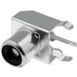 Zásuvka RCA zásuvka MINI úhlové 90° THT Rozlišovač černá