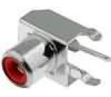 Zásuvka RCA zásuvka MINI úhlové 90° THT Rozlišovač červená